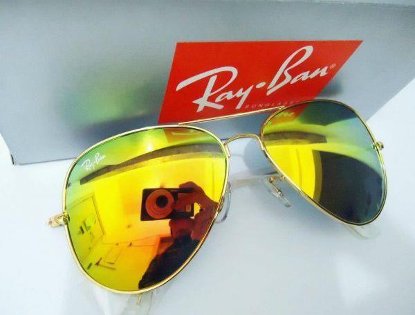 a4ad2a1f5 Ray ban com lente espelhada Amarela 3025 3026 - espacobelezafloripa
